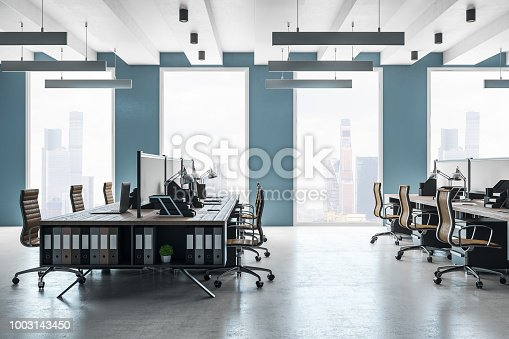 istock New coworking office interior 1003143450