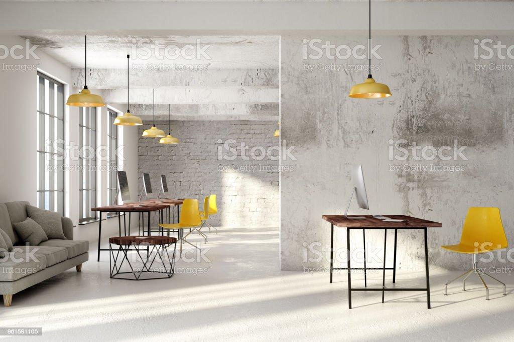 Nuevo interior de la oficina de coworking - foto de stock