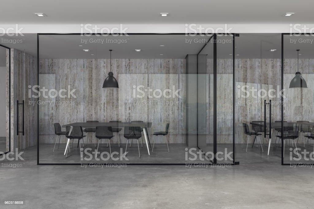 Coworking novo interior do escritório - Foto de stock de Apartamento royalty-free