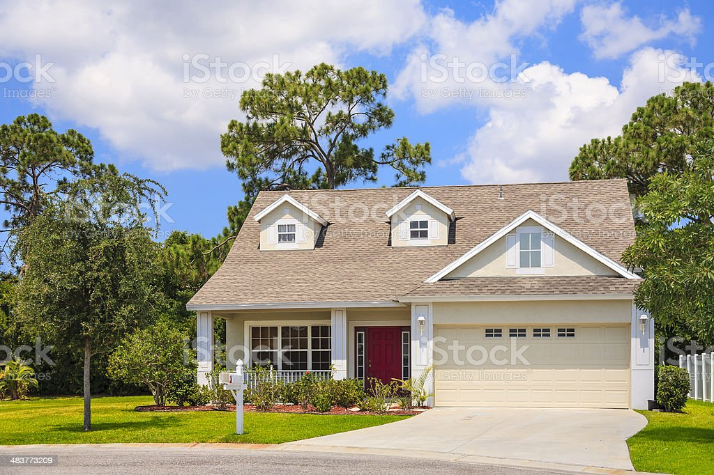 New Cozy  Cottage stock photo