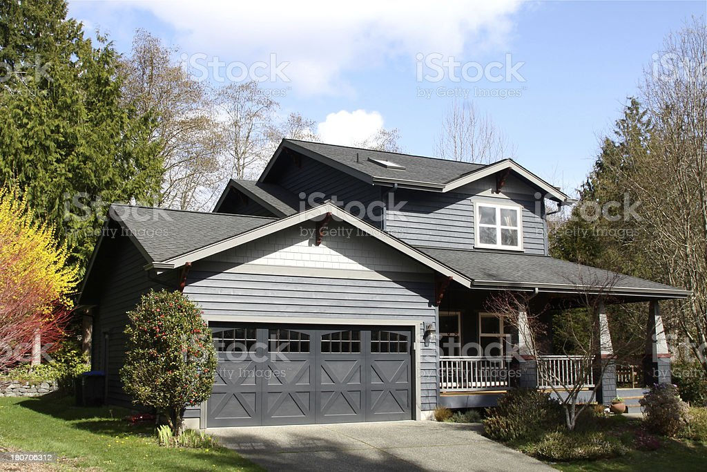 New Craftsman Style Home royalty-free stock photo