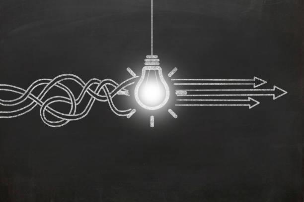 Neue kreative Idee Glühbirne Tafel – Foto