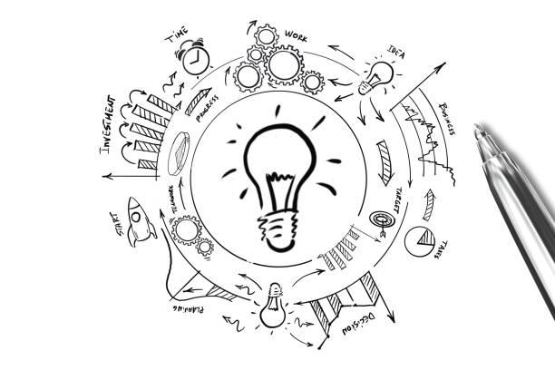 Neue kreative Idee Glühbirne – Foto
