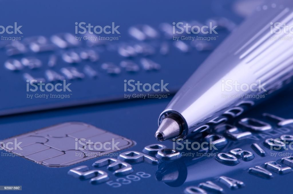 New credit cards stock photo