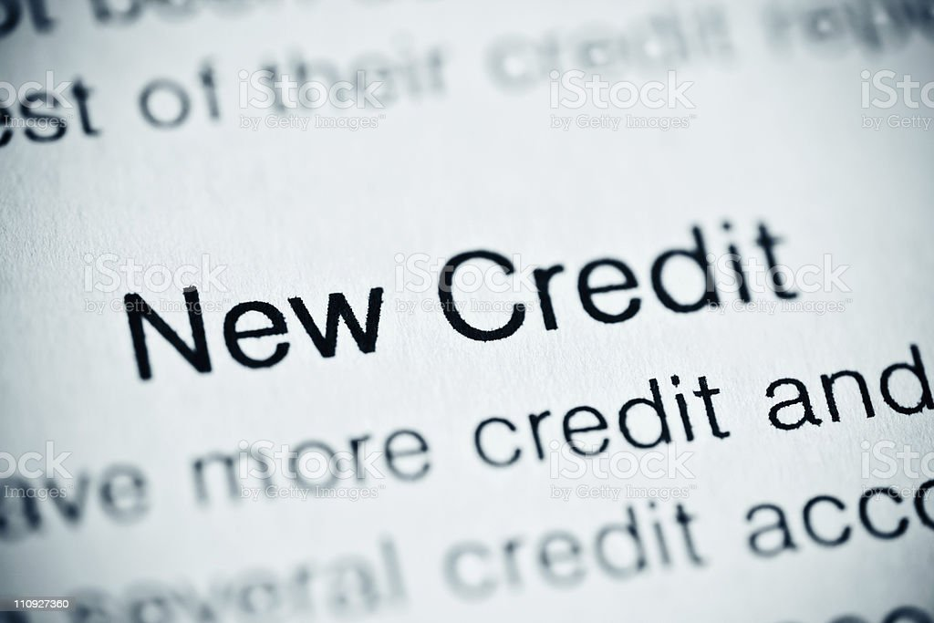 New credit royalty-free stock photo