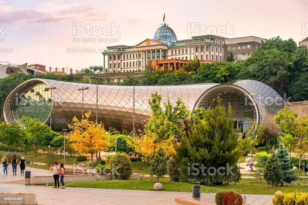 New Cultural Center and Presidential Palace in Tbilisi, Georgia stock photo