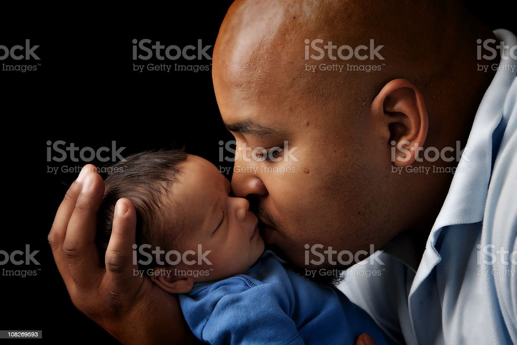 New Daddy with Baby stock photo