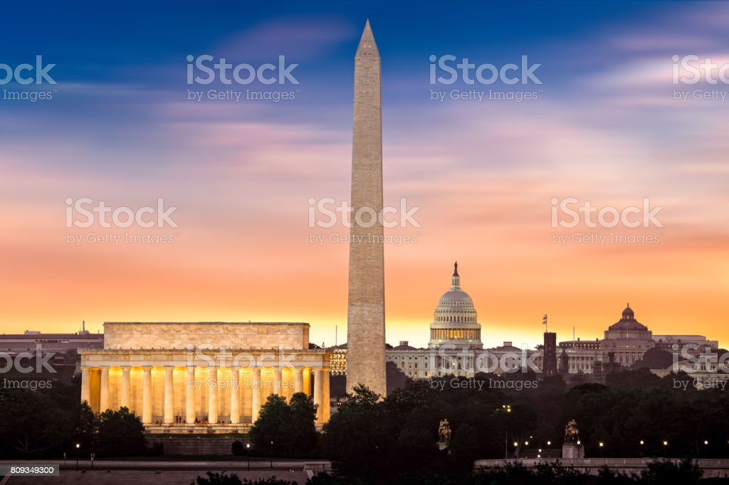 New Dawn over Washington stock photo