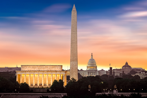New Dawn Over Washington Stock Photo - Download Image Now