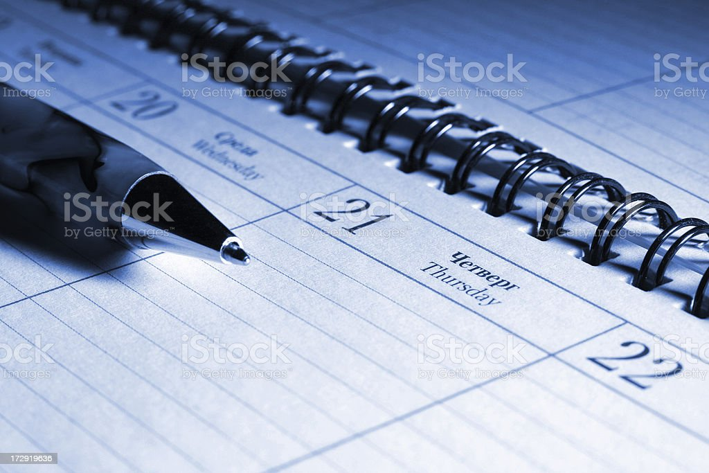 New day and plans royalty-free stock photo