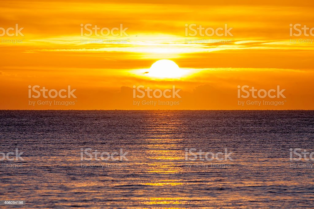 New day at sea stock photo