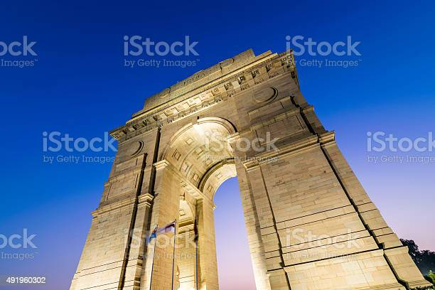 Photo of New Delhi Gateway of India at Blue Hour