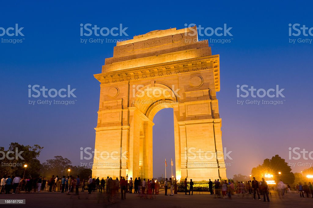New Delhi, India Gate Monument War Memorial royalty-free stock photo