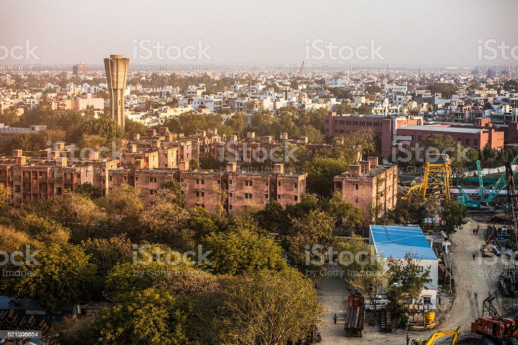 New Delhi neighborhood stock photo