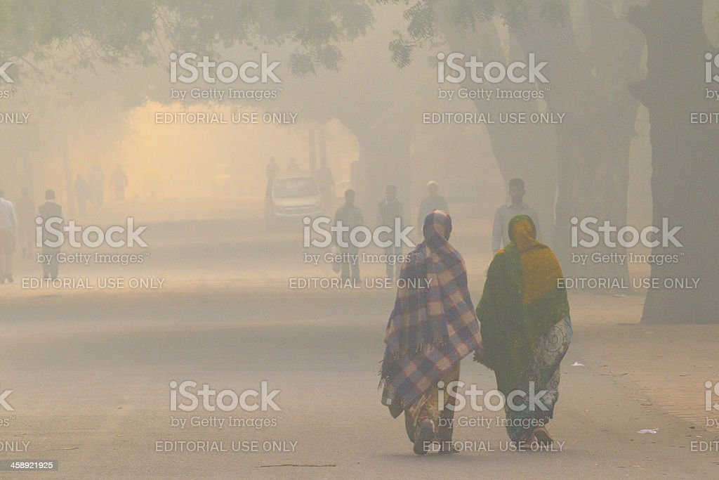 New Delhi street life stock photo