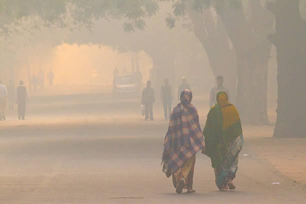 New Delhi street life stock photo