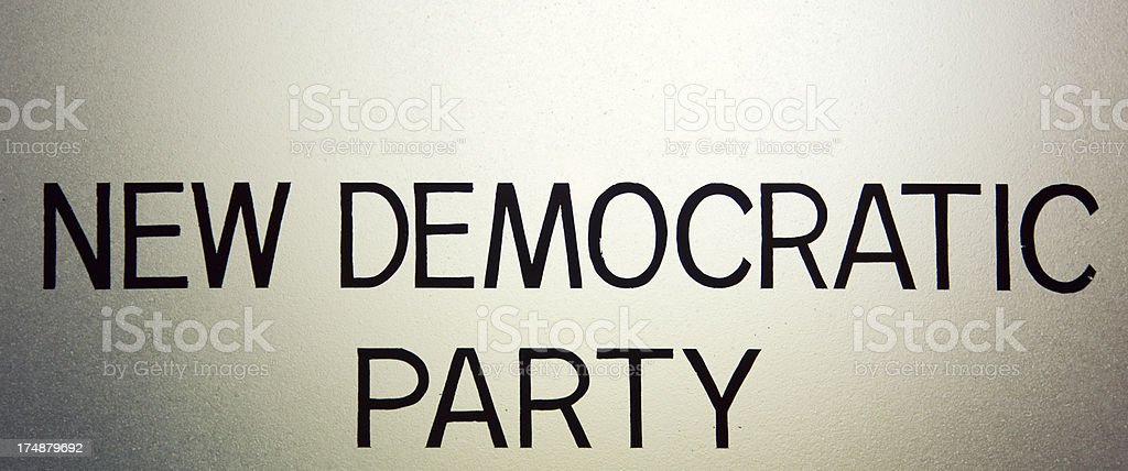 New Democratic Party Sign royalty-free stock photo