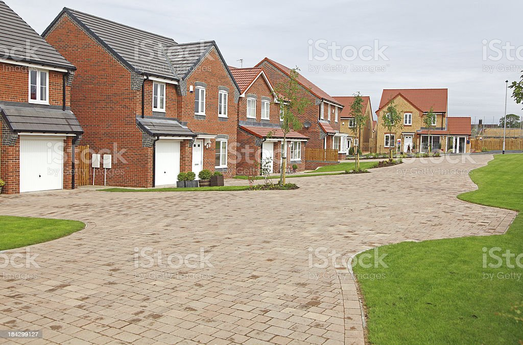 new detached homes stock photo