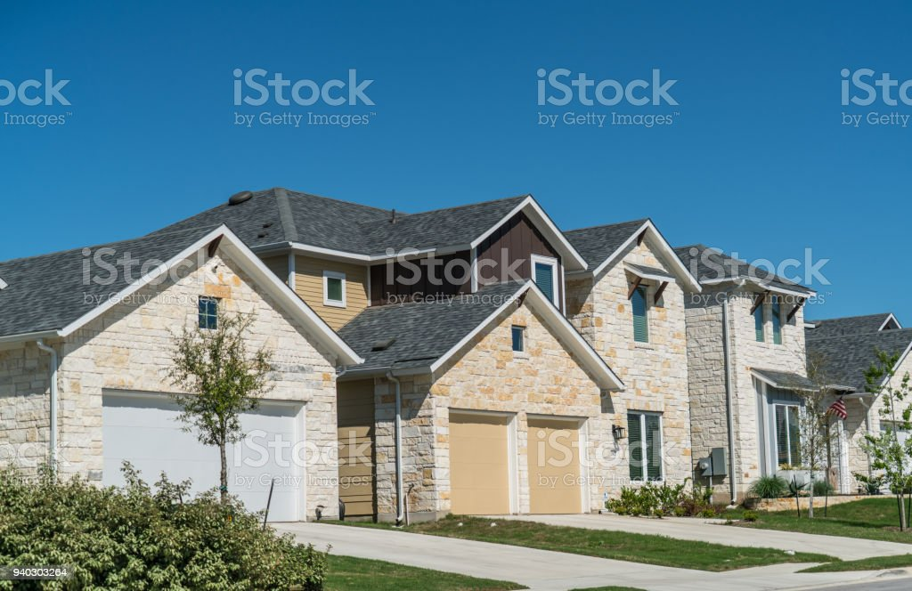 new development suburb in Austin, Texas stock photo