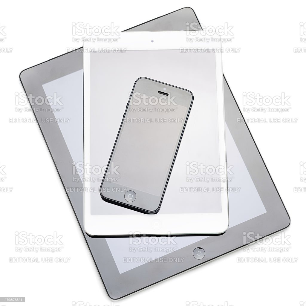 New devices on white background royalty-free stock photo