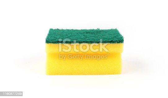 Dishwashing sponge yellow