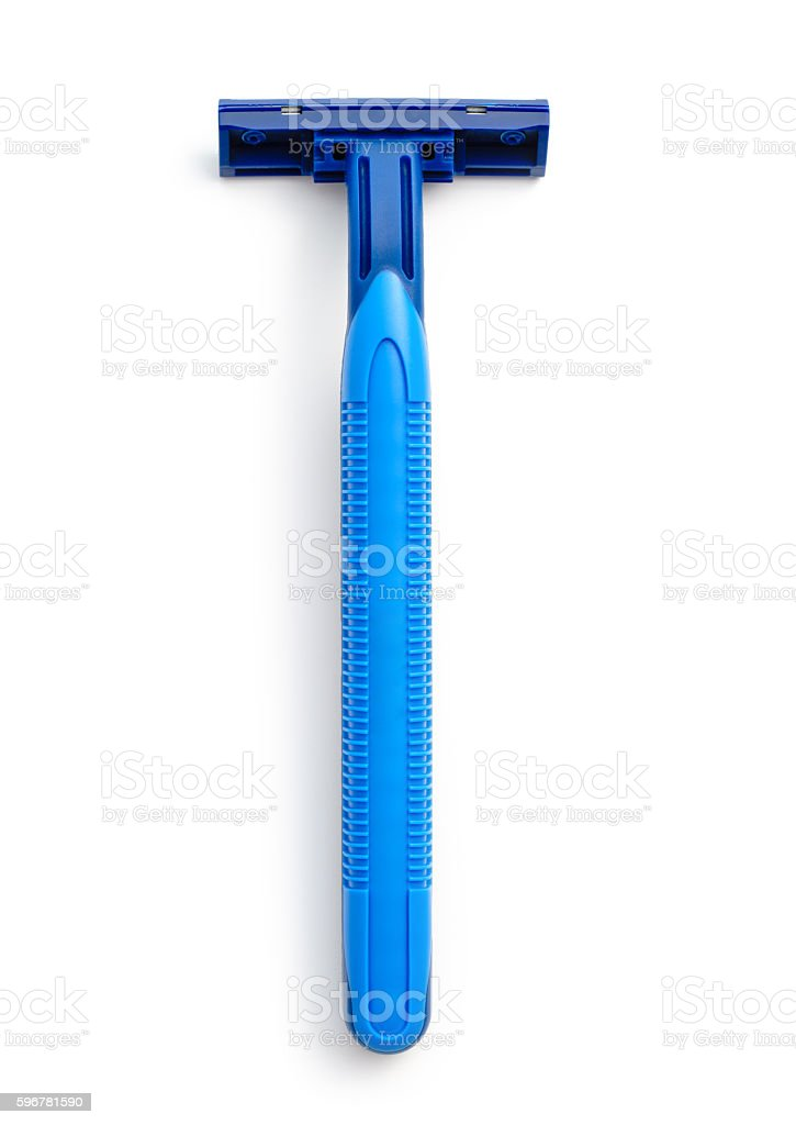 New disposable razor blade stock photo