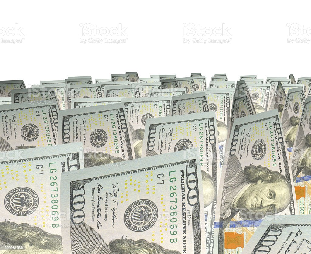 New Dollar Isolated on White foto royalty-free