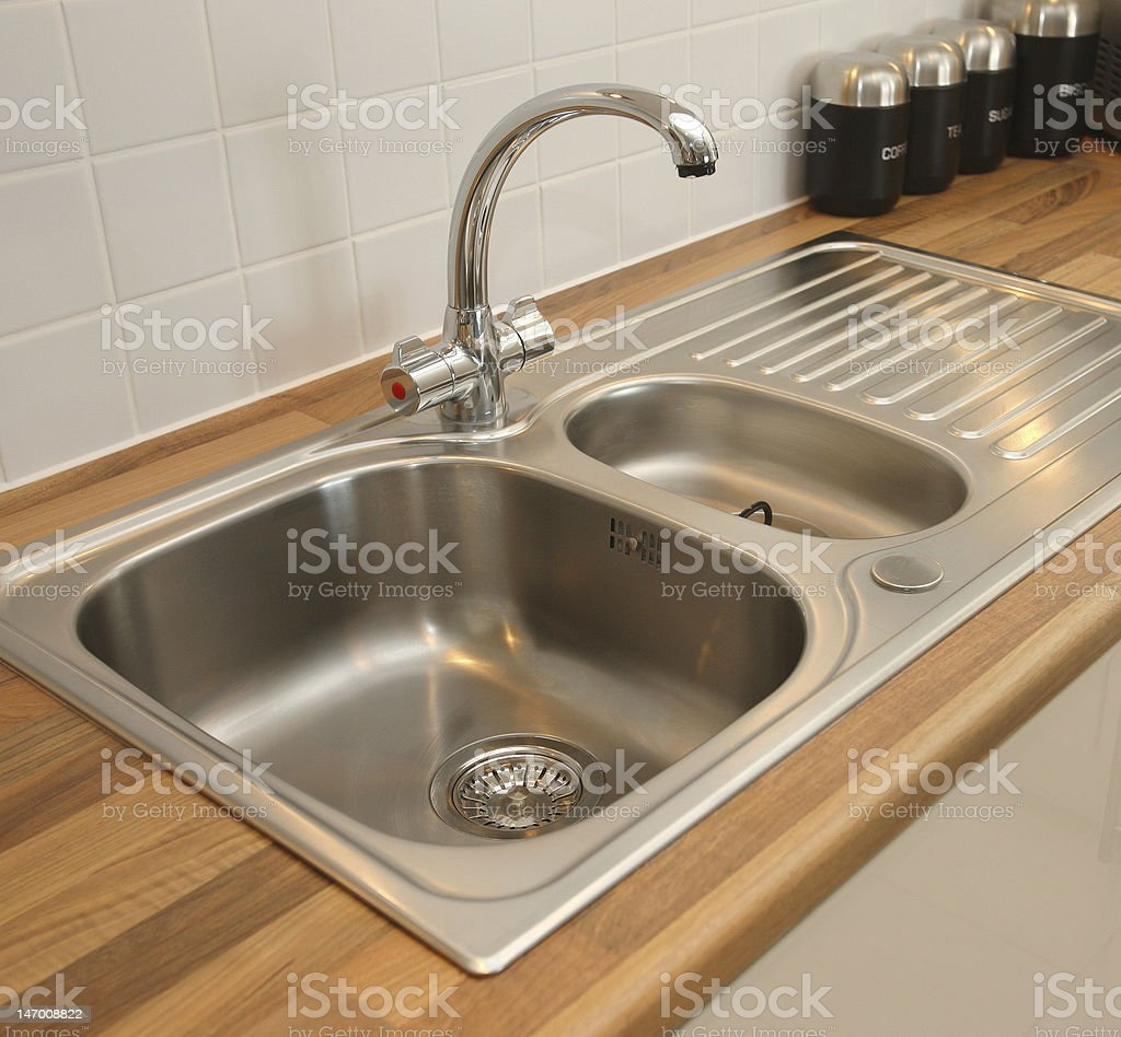 New Domestic Kitchen Sink stock photo