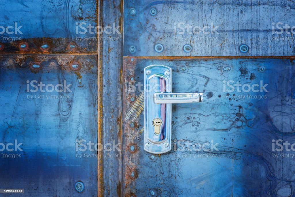 New door handle. royalty-free stock photo
