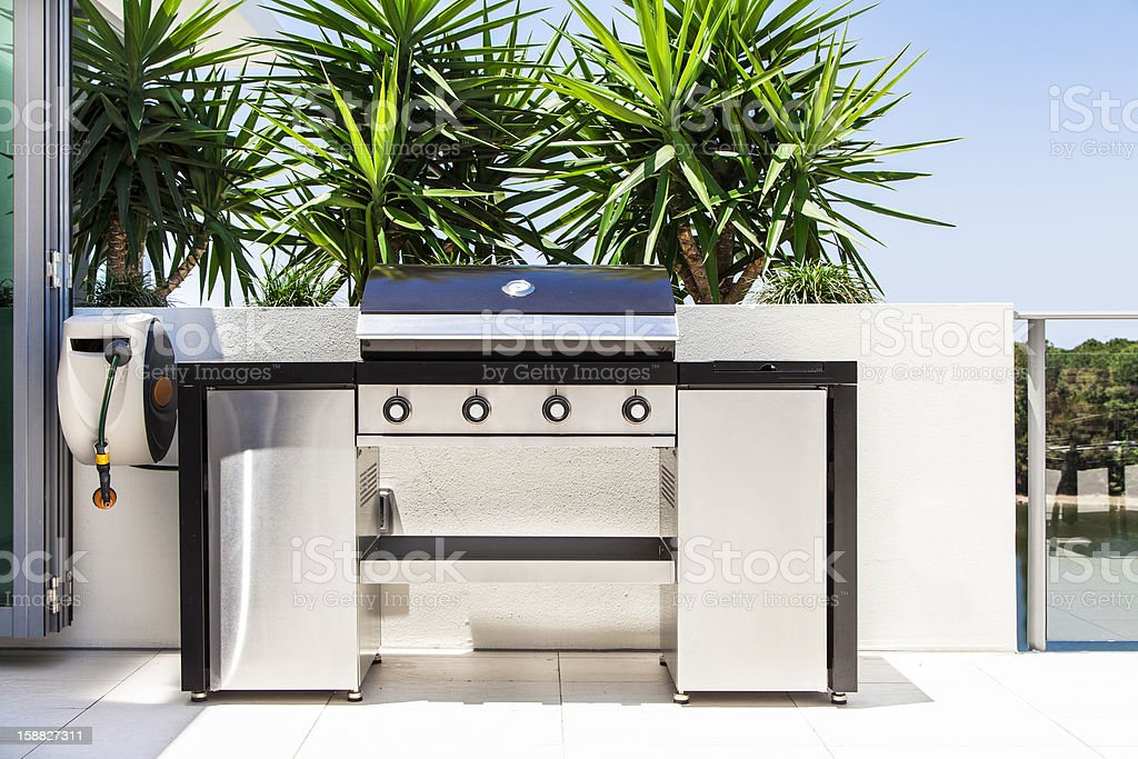 New double barbecue grill stock photo
