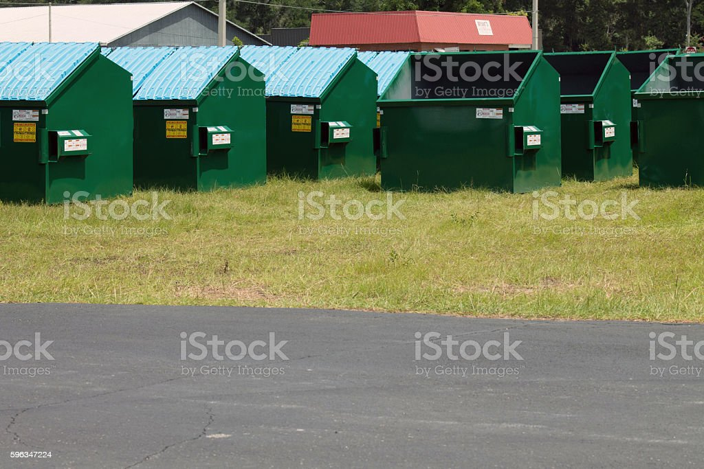 New Dumpsters royalty-free stock photo
