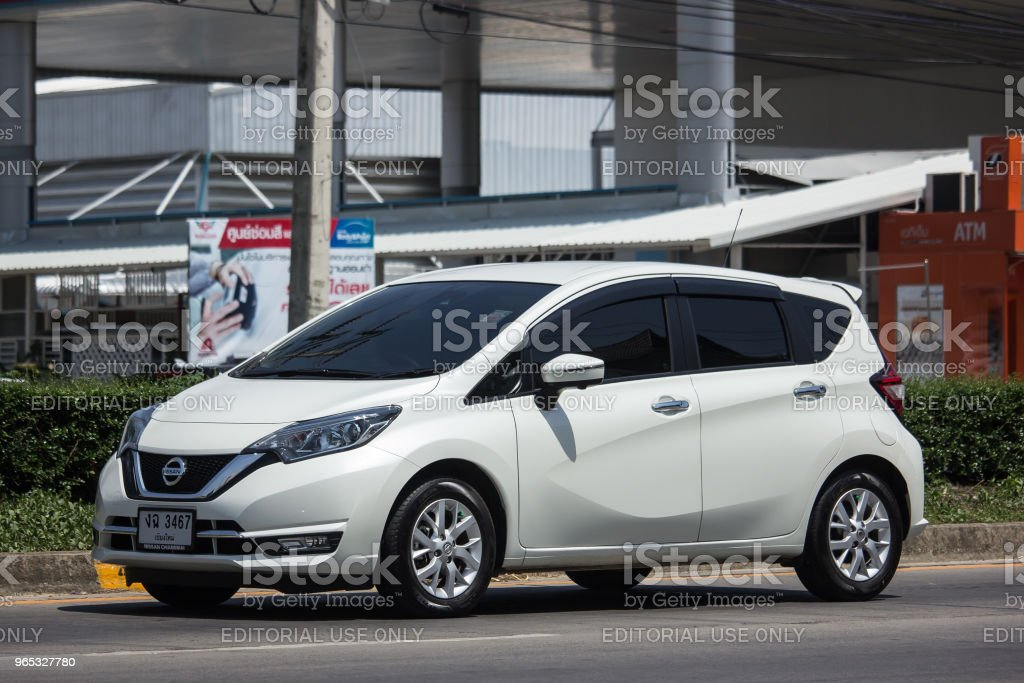 New Eco Car Nissan Note. royalty-free stock photo