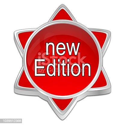istock New Edition Button - 3D illustration 1039512368