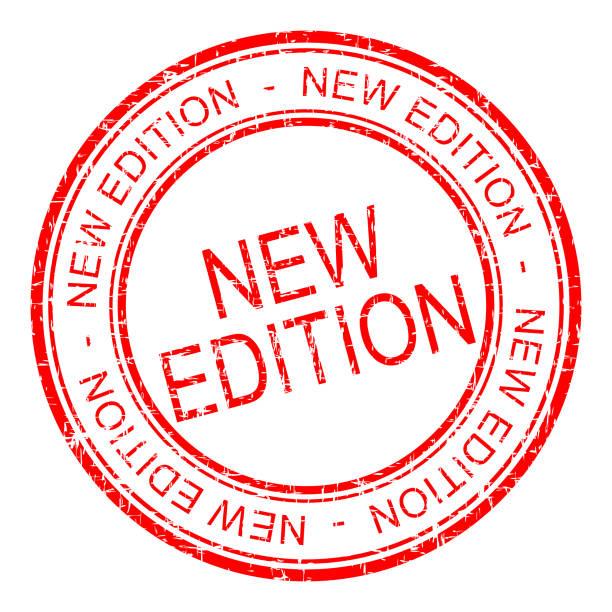 nouveau timbre de caoutchouc Edition - illustration - Photo