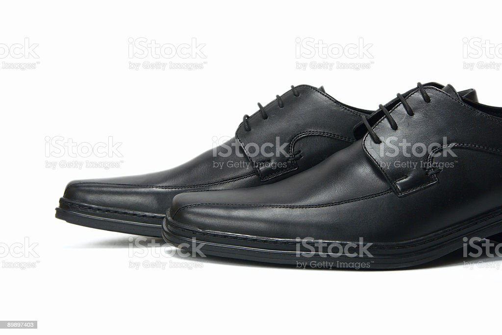 New elegant boots on a white background royalty-free stock photo
