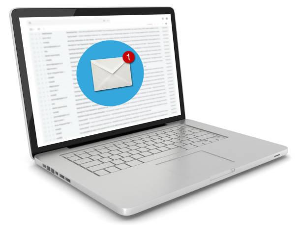 Neue e-Mail-Online-Meldung Kommunikation Laptop-computer – Foto