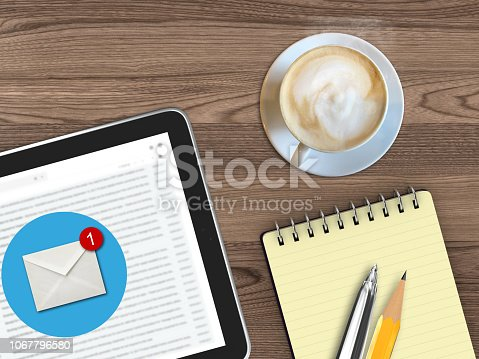 istock New email online message communication tablet desk top view 1067796580