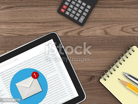 istock New email online message communication tablet desk top view 1070438772