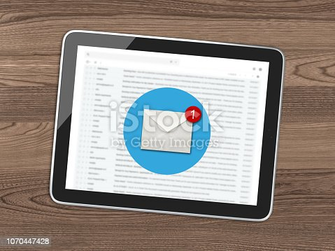 istock New email online message communication tablet desk top view 1070447428