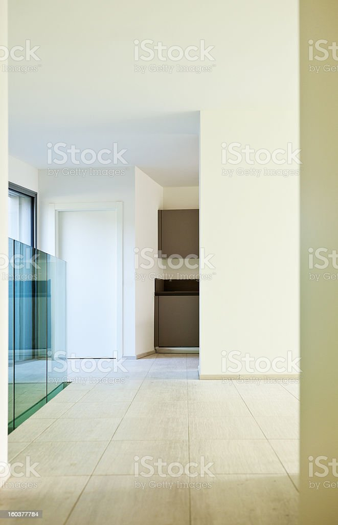 New empty apartment, passage royalty-free stock photo