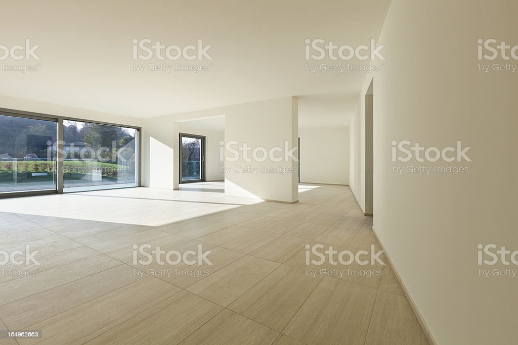 New empty house, wide room stock photo