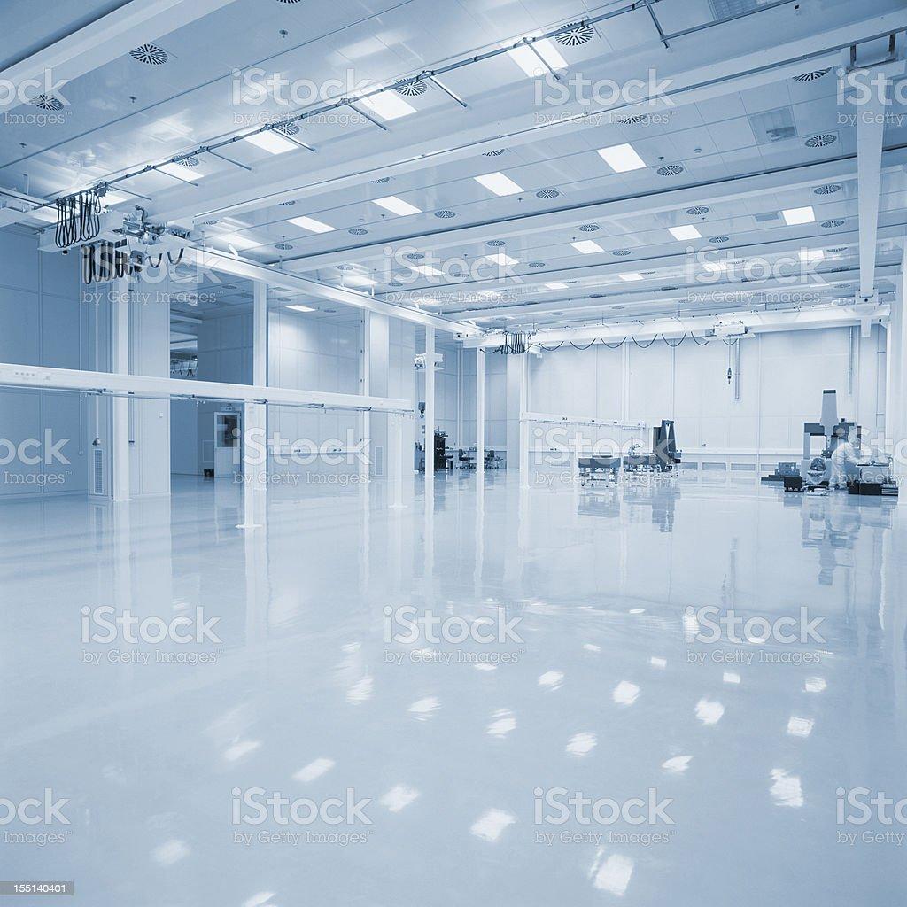 New empty Industrial hall stock photo