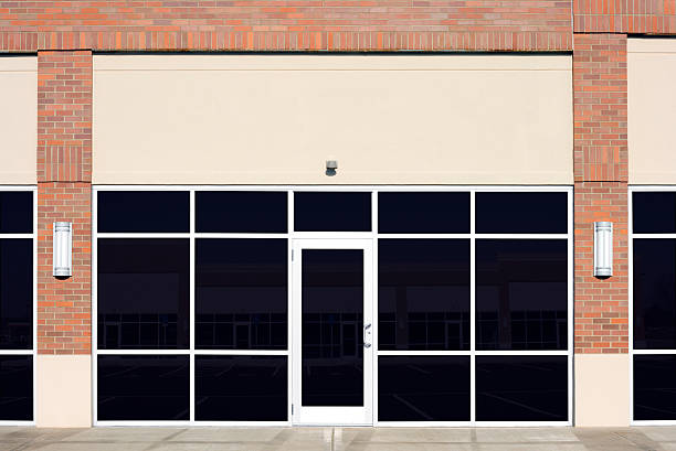 new empty store front - store window stock pictures, royalty-free photos & images