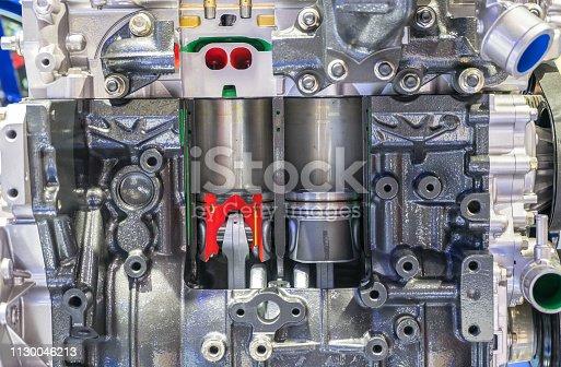 istock New engine  Piston of the car machine 1130046213