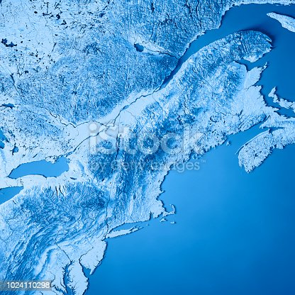 171057063 istock photo New England 3D Render Topographic Map Blue 1024110298