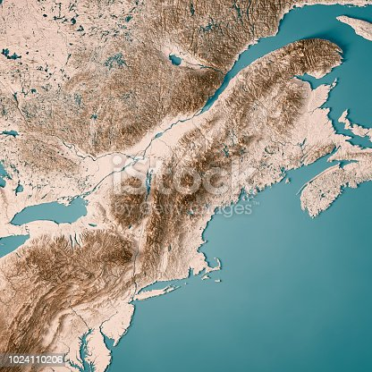 171057063 istock photo New England 3D Render Topographic Map Neutral 1024110206