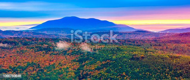New England Autumn Foliage in the Green Mountains of Vermont. My Ascutney