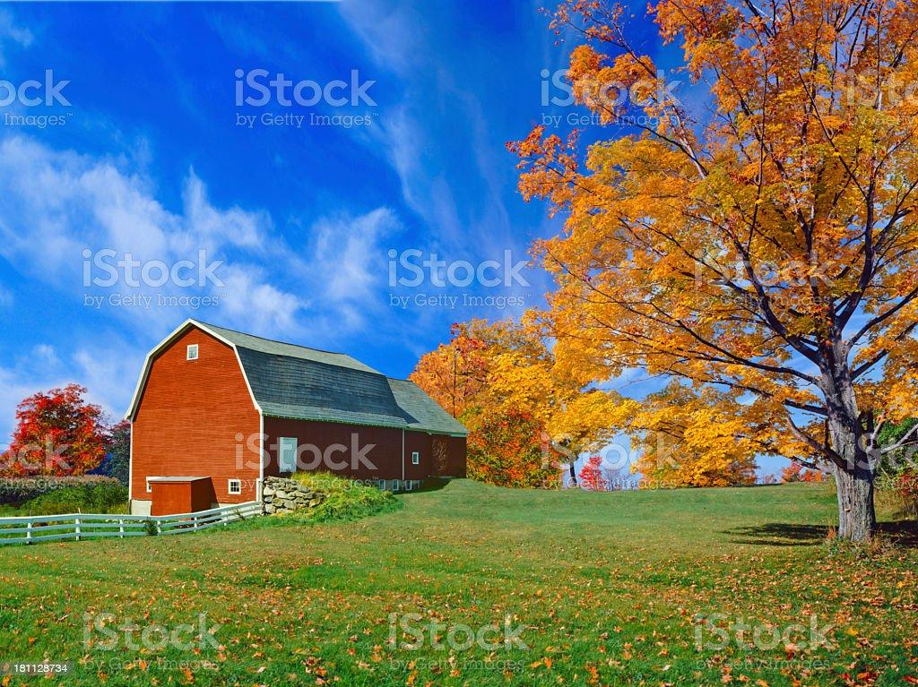 New England Autumn royalty-free stock photo