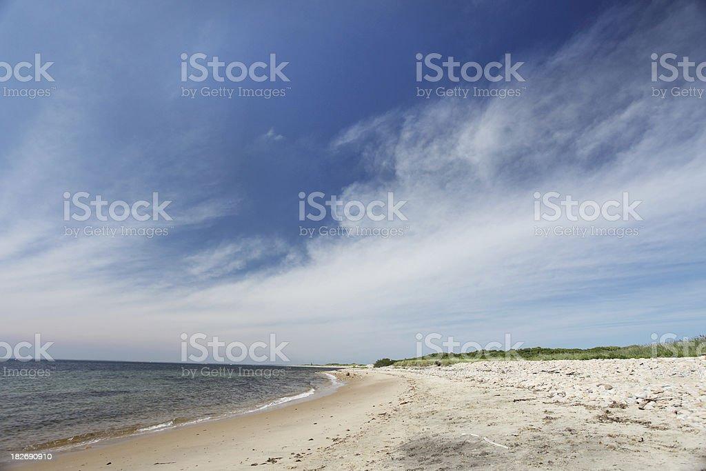 New england beach royalty-free stock photo
