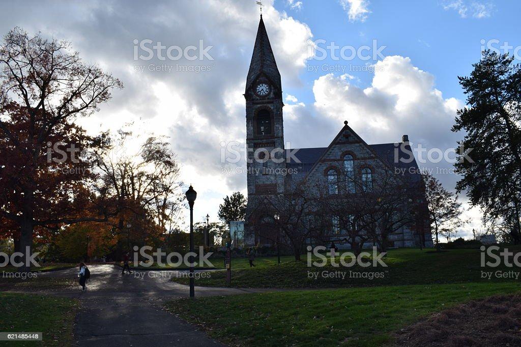 New England Church in the fall photo libre de droits